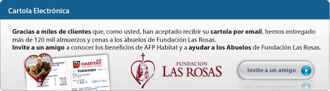 Con su Cartola Electrónica ayuda a Fundación Las Rosas